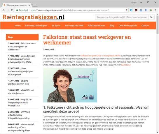 interview Reintegratie Falkstone